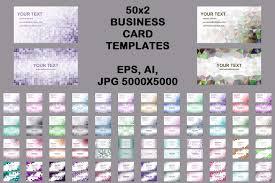 Business Card Eps Template 50x2 Mosaic Design Business Card Templa Design Bundles