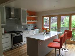 furniture a cherry red fridge is the focal point small kitchen