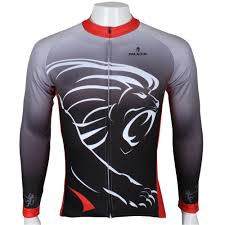 red cycling jacket pure lion king sportswear mens winter thermal cycling jersey long