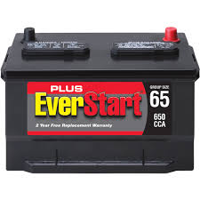 everstart plus lead acid automotive battery group size 65 3