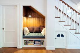 Reading Nook Furniture by Small Bookshelf Under Reading Nook Under Stairs With White And