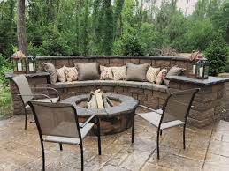 Backyard Grill Fdl by Paver Patio With Grill Surround And Fire Pit Patio Ideas