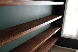 diy solid wood wall to wall shelves chris loves julia