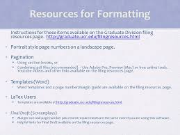 Requirements for Filing   Must be Advanced to Candidacy Procedures different for PhD and master     s