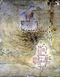 San Antonio Texas Map Topo Map Made By A Mexican Army Engineer The Alamo Pinterest