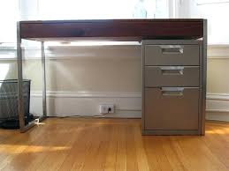 Desk With File Cabinet Ikea by Under Desk Mobile File Cabinet Under Desk File Cabinet Ikea Large