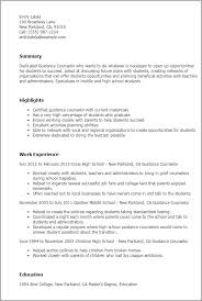 Samples Of Resumes For Highschool Students by Professional Guidance Counselor Templates To Showcase Your Talent