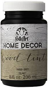amazon com folkart home decor wood tint 8 ounce 34856 grey