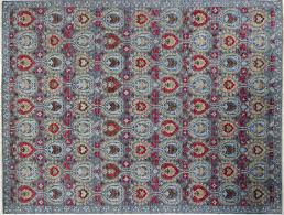 Area Rug 12 X 15 Modern Oushak Turkish Knotted 12x15 Blue Floral Hand Knotted Wool