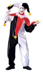 Clowns Halloween Costumes Jester Costume Party Carnival