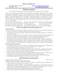 entry level business analyst resume examples sample resume business data analyst sample resume for system analyst private banking resumes template business career objective for finance fresh graduate