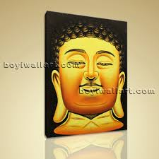 abstract home decor feng shui painting abstract buddha head stately home decor wall