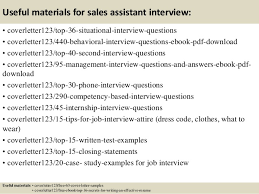 Useful materials for sales assistant