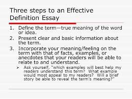 The Definition Essay When you are writing a definition essay you     SlidePlayer