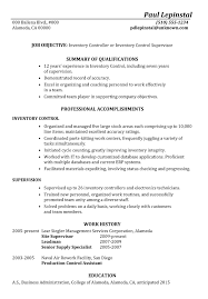Inventory Specialist Resume Sample by Inventory Resume Samples Free Resumes Tips