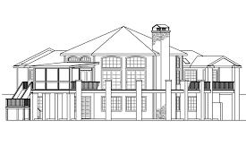 european house plans hillview 11 138 associated designs hexagonal house plan hillview 11 138 rear elevation