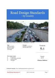 road design standards 6 1 pdf download available