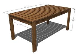 Build Your Own Outdoor Patio Table by Ana White Simple Outdoor Dining Table Diy Projects
