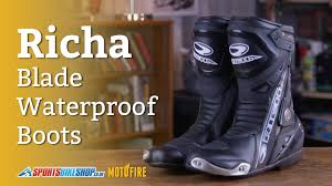 cheap waterproof motorcycle boots richa blade waterproof boot review youtube