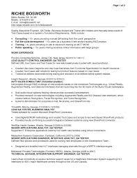Hris Analyst Resume Stunning Resume Qa Analyst Images Simple Resume Office Templates