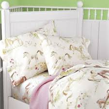 Girls Horse Bedding Set by Ponies Percale Girls Bedding Kids Decorating Ideas