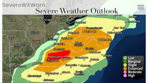Weather Map Ohio Severe Weather Likely Today For Multiple States On The East Coast