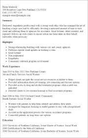 Resume Examples For Food Service by Professional Social Worker Templates To Showcase Your Talent