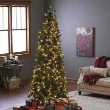 classic pine slim pre lit christmas tree hayneedle