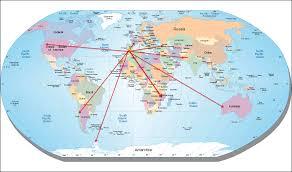 Egypt On A World Map by World Map Matilde U0027sjournal