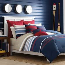 Bedroom Sophisticated Navy Comforter With Stunning Design For - Nautica bedroom furniture