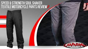 motorcycle pants speed and strength soul shaker textile motorcycle pants review