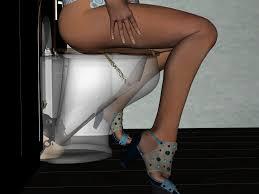 3D toilet slave|