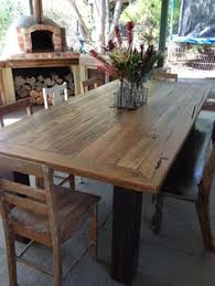 Handmade IN Melbourne Recycled Timber Dining Table Desk EBay - Timber kitchen table
