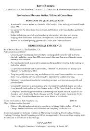 Professional Resume for Beth Brown Damn Good Resume Guide