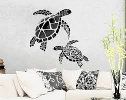 Sea Turtle Home Decor Turtle Wall Decal Etsy