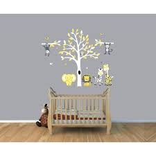 Tree Decal For Nursery Wall by U0026 Gray Jungle Tree Wall Decal With Monkey Wall Stickers For