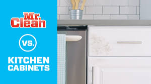 the best way to clean kitchen cabinets mr clean youtube