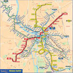 Metro map of Toulouse. Metro maps of France. — Planetolog.