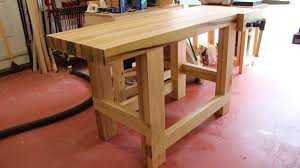 Plans For Building A Wooden Workbench by Workbench Plans Diy Adjustable Height Wood Photo On Amusing