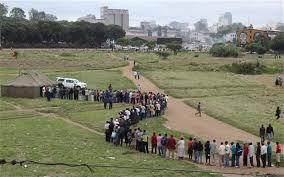 Zimbabweans wait in a queue to cast their votes during a referendum in Harare  Zimbabwe The Telegraph