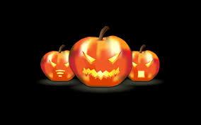 hd halloween wallpaper three funny pumpkins lanterns hd halloween wallpaper