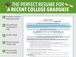 current college student resume examples examples of college graduate resumes sample resume college excellent resume for recent grad business insider sample resume college graduate