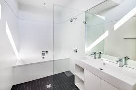 Bathroom Vanity San Francisco by Modern White Shower Tile With Modern Gray White Bathroom