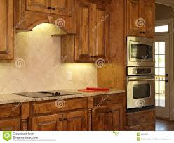 Maple Kitchen Cabinets Luxury Model Home Maple Kitchen Cabinets Royalty Free Stock