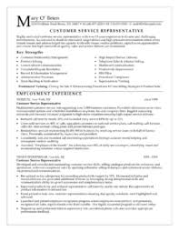 sales representative resume examples customer service employment experience