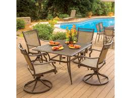 5 Pc Patio Dining Set - agio andover agio transitional 5 piece square dining table and