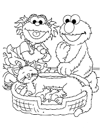 sesame street coloring pages 2 coloring page