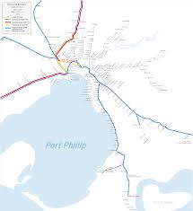 Metro Lines Map by Freight Railways In Melbourne Wikipedia