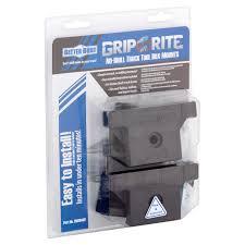 better built grip rite no drill truck tool box mounts walmart com
