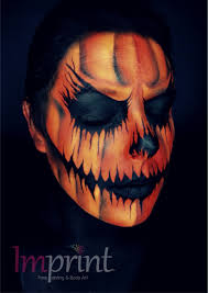 face painting pumpkin cheek design face painting pinterest
